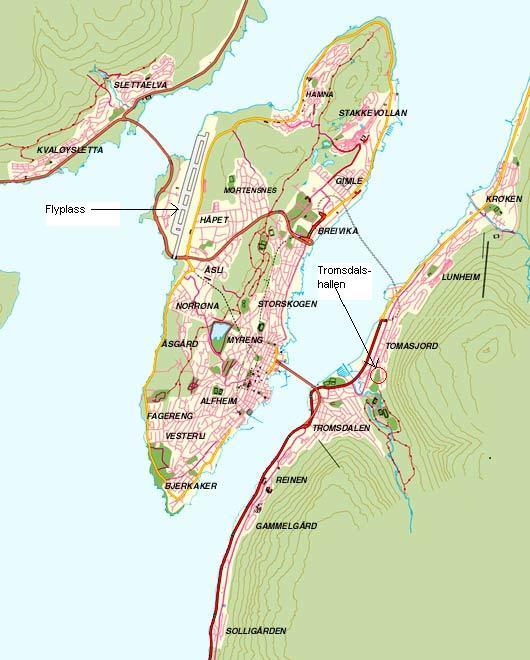 tromsø bussruter kart Tromsø Bordtennisklubb tromsø bussruter kart